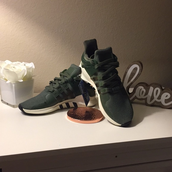 new product 5ccce d4fe1 ADIDAS EQT ADV 91-16 OLIVE GREEN SNEAKERS